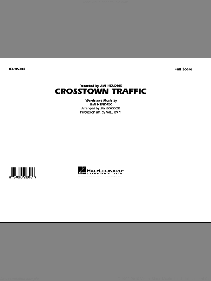 Crosstown Traffic sheet music for marching band (full score) by Jay Bocook