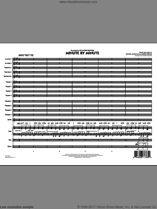 Minute By Minute (COMPLETE) sheet music for jazz band by Lester Abrams