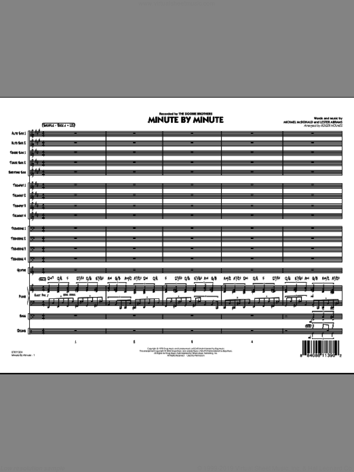 Minute By Minute (COMPLETE) sheet music for jazz band by Michael McDonald, Lester Abrams and Roger Holmes, intermediate skill level