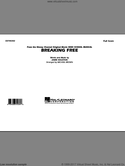 Breaking Free (from High School Musical) (COMPLETE) sheet music for marching band by Jamie Houston