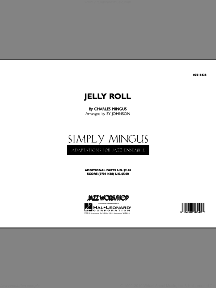 Jelly Roll (COMPLETE) sheet music for jazz band by Charles Mingus and Sy Johnson, intermediate skill level