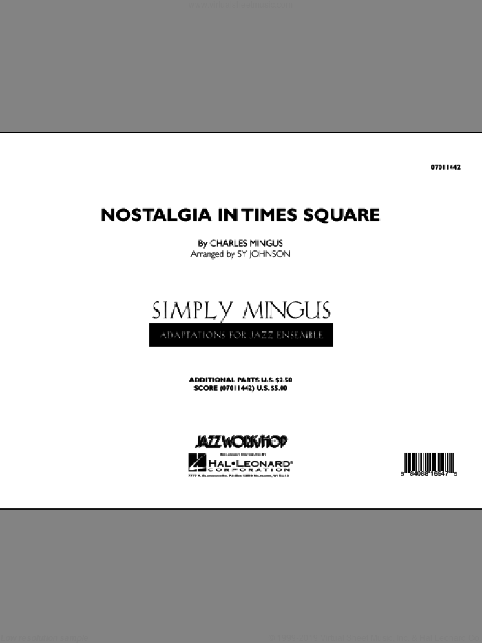 Nostalgia In Times Square (COMPLETE) sheet music for jazz band by Charles Mingus, intermediate jazz band. Score Image Preview.