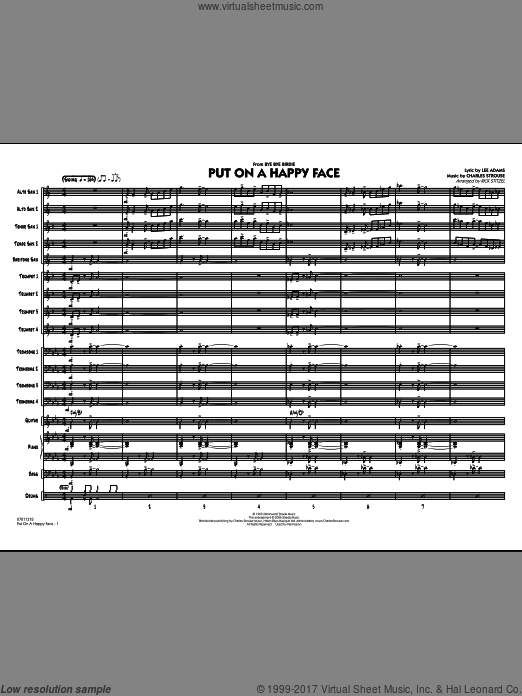 Put On A Happy Face (COMPLETE) sheet music for jazz band by Charles Strouse