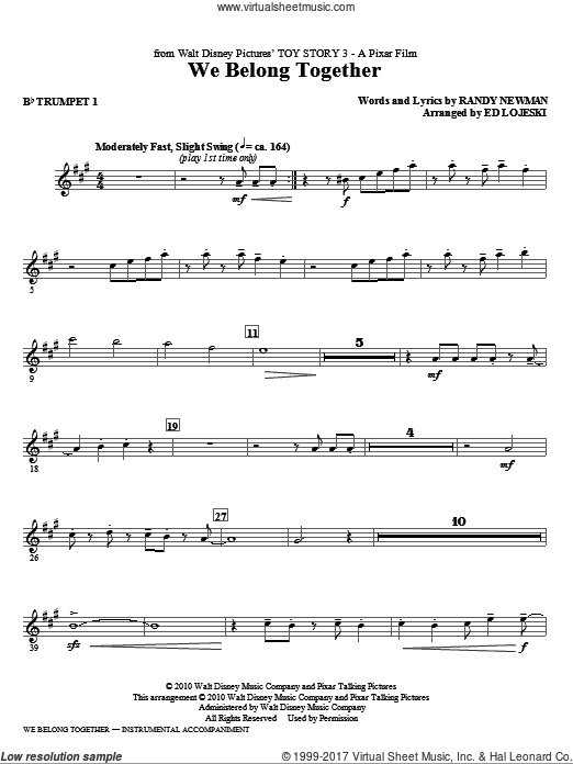 We Belong Together (from Toy Story 3) (COMPLETE) sheet music for orchestra by Ed Lojeski