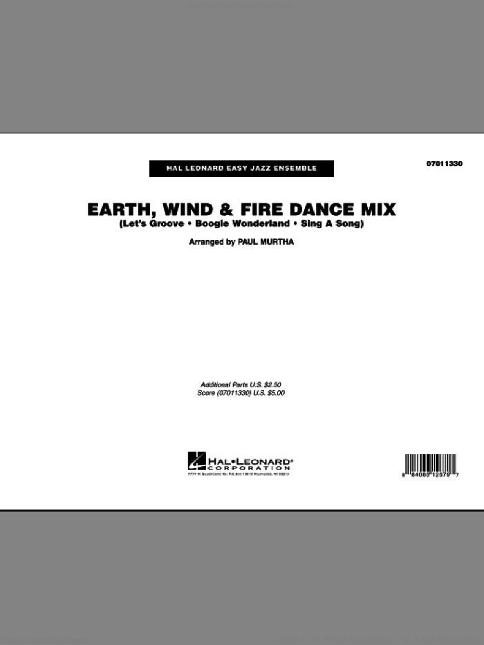 Earth, Wind and Fire Dance Mix (COMPLETE) sheet music for jazz band by Paul Murtha and Earth, Wind & Fire, intermediate. Score Image Preview.