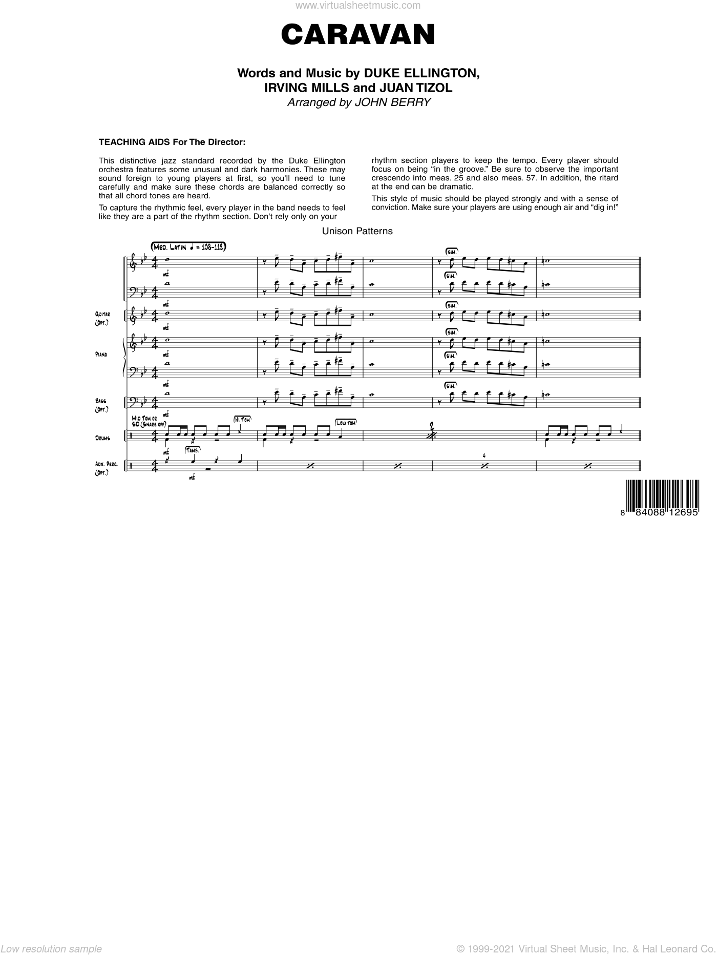 Caravan sheet music for jazz band (full score) by Duke Ellington