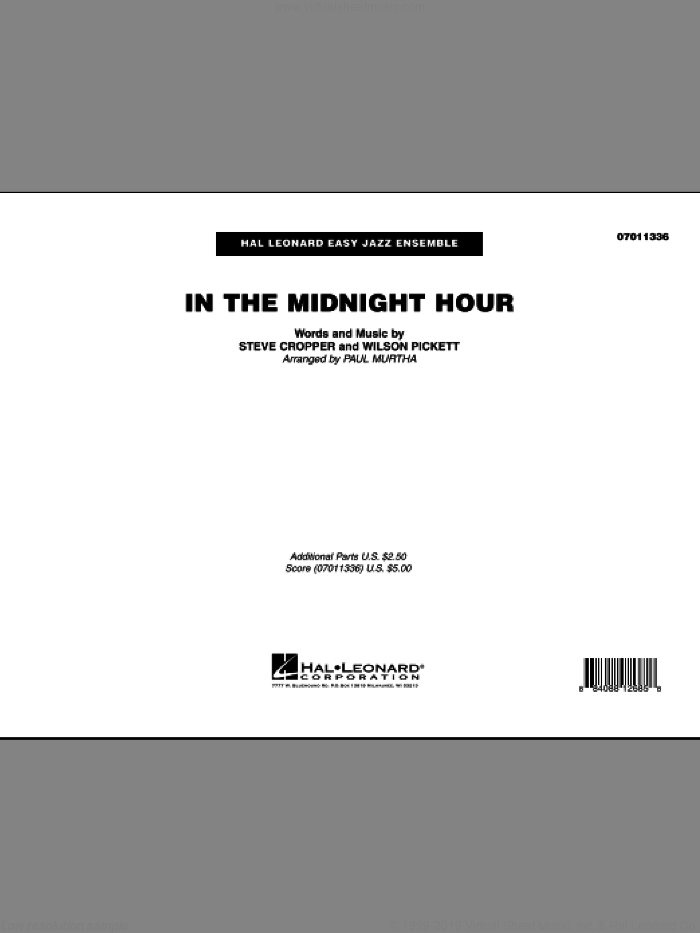 In The Midnight Hour (COMPLETE) sheet music for jazz band by Wilson Pickett and Paul Murtha, intermediate. Score Image Preview.