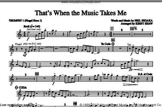 That's When The Music Takes Me (COMPLETE) sheet music for orchestra by Kirby Shaw