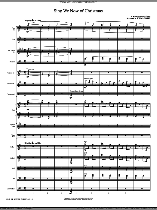 Sing We Now Of Christmas (COMPLETE) sheet music for orchestra