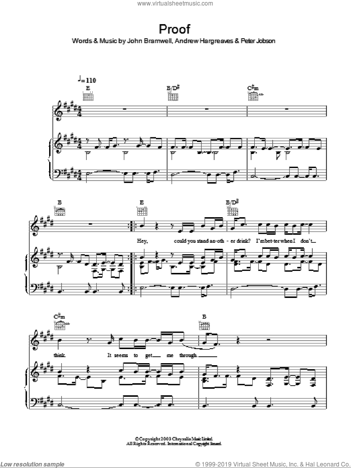 Proof sheet music for voice, piano or guitar by Peter Jobson. Score Image Preview.
