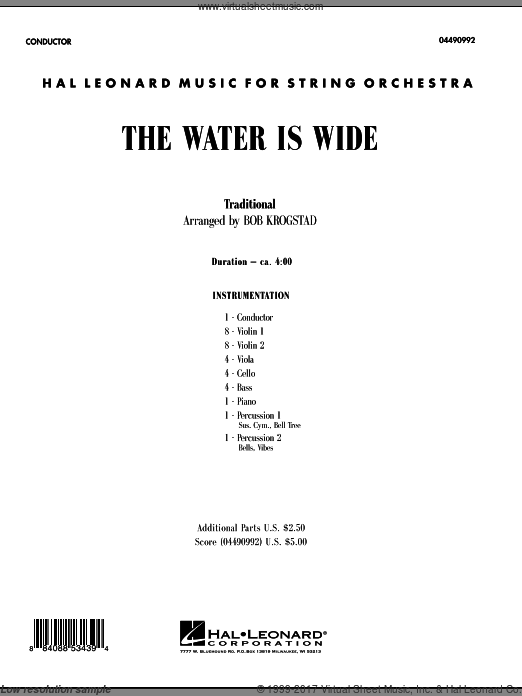 The Water Is Wide (COMPLETE) sheet music for orchestra