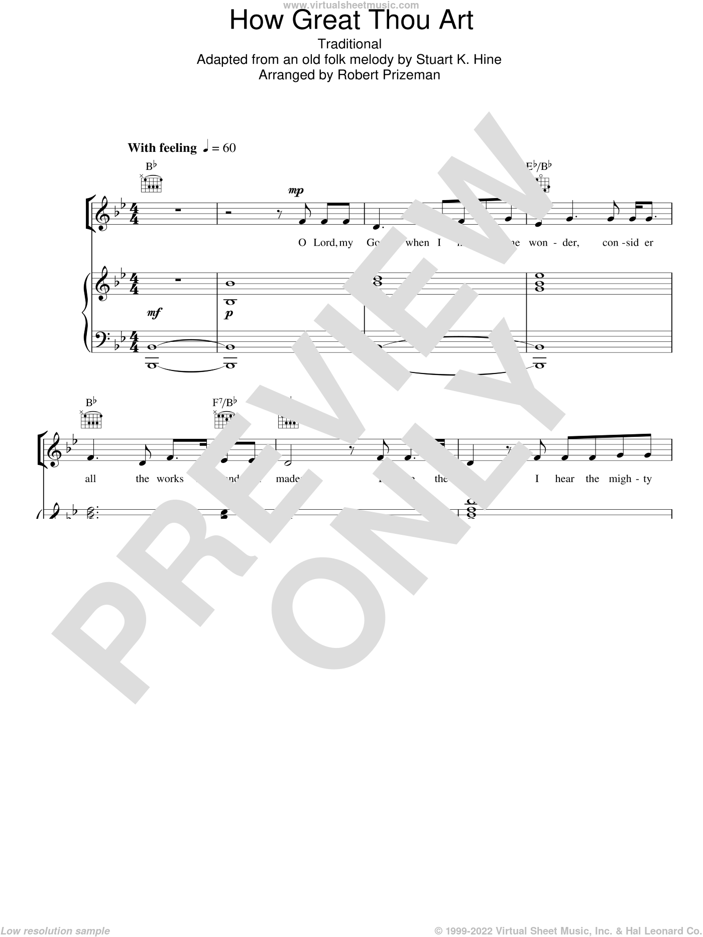 How Great Thou Art sheet music for voice, piano or guitar by Aled Jones, Robert Prizeman, Miscellaneous and Stuart K. Hine, intermediate skill level