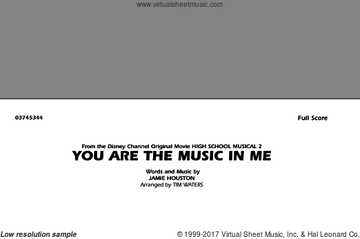 You Are the Music In Me (from High School Musical 2) (COMPLETE) sheet music for marching band by Jamie Houston