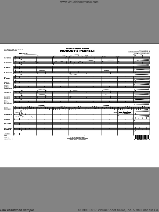 Nobody's Perfect (COMPLETE) sheet music for marching band by Matthew Gerrard