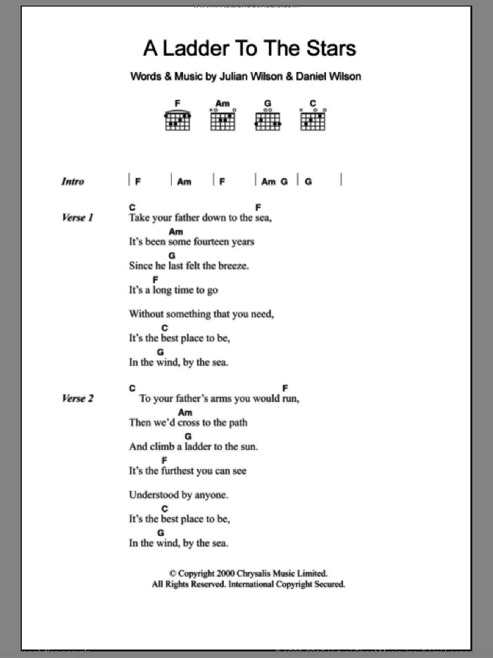 A Ladder To The Stars sheet music for guitar (chords) by Julian Wilson