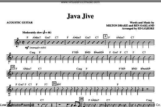 Java Jive (SATB Octavo Accompaniment Parts) (COMPLETE) sheet music for orchestra by Ben Oakland