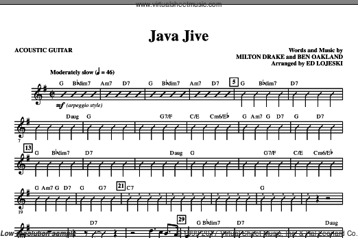 Java Jive (TTBB Octavo Accompaniment Parts) (COMPLETE) sheet music for orchestra by Ben Oakland