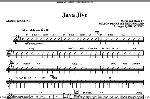 Java Jive (SSAA Octavo Accompaniment Parts) (COMPLETE) sheet music for orchestra by Ben Oakland