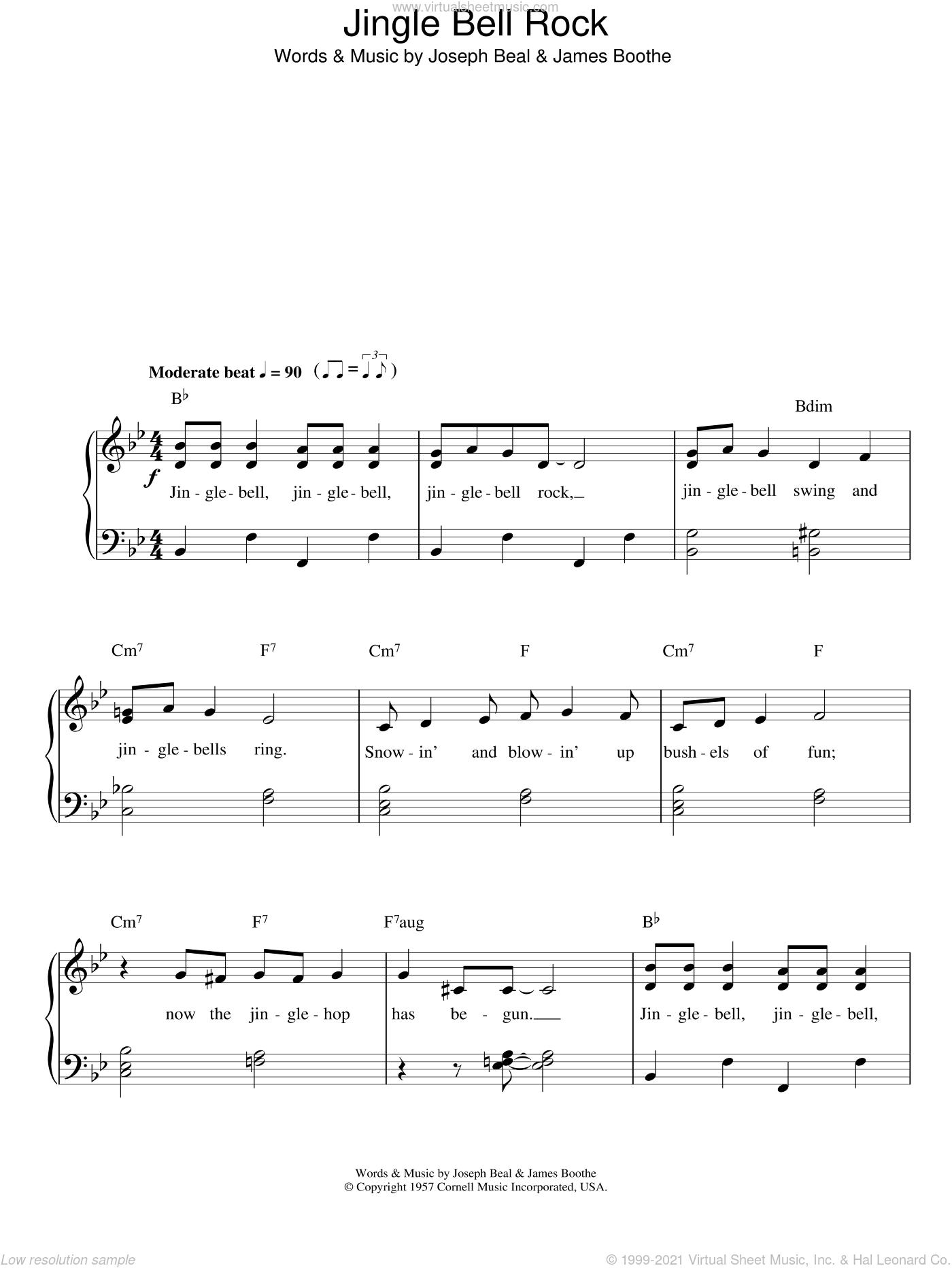 Helms Jingle Bell Rock Sheet Music For Piano Solo Pdf