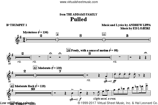 Pulled (from The Addams Family) (COMPLETE) sheet music for orchestra by Andrew Lippa