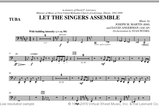 Let The Singers Assemble (COMPLETE) sheet music for orchestra by David Angerman