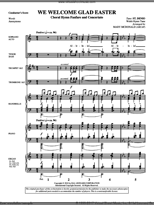 We Welcome Glad Easter (COMPLETE) sheet music for orchestra