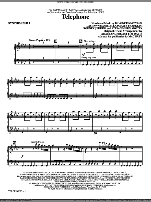 Telephone (COMPLETE) sheet music for orchestra by Beyonce Knowles
