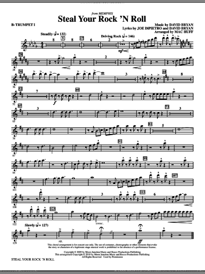Steal Your Rock 'N Roll (complete set of parts) sheet music for orchestra/band by Joe DiPietro, David Bryan and Mac Huff, intermediate skill level