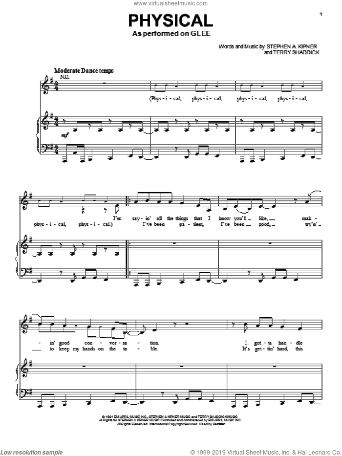 Physical sheet music for voice and piano by Terry Shaddick