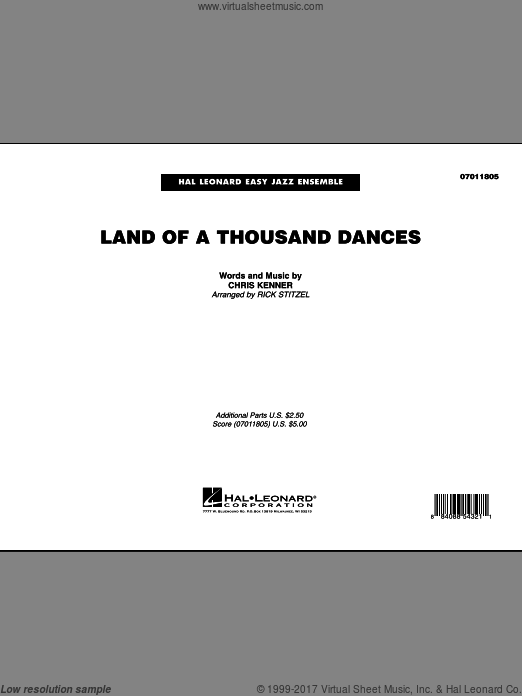 Land Of A Thousand Dances (COMPLETE) sheet music for jazz band by Chris Kenner