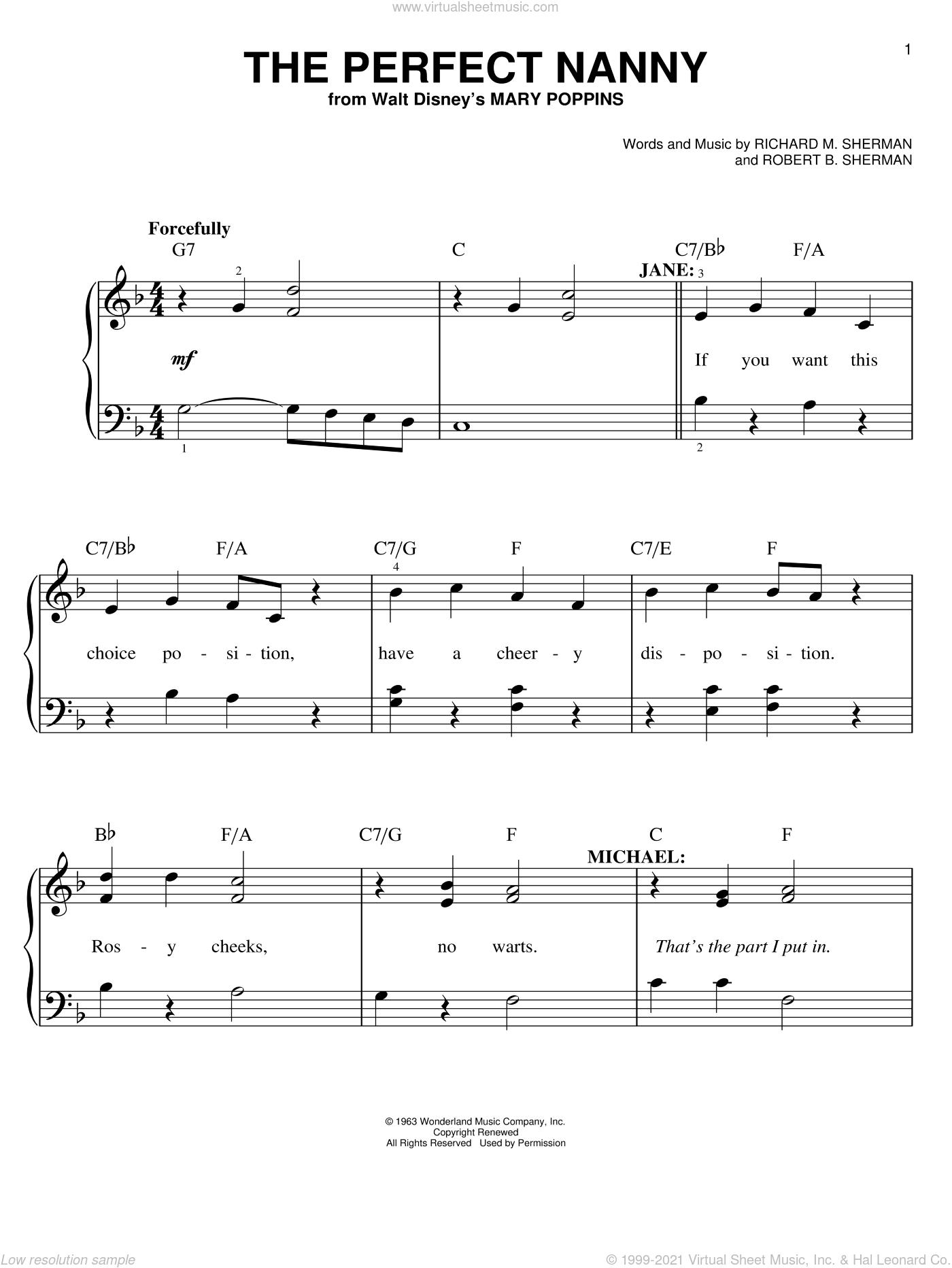 dba9ea31368 Brothers - The Perfect Nanny sheet music for piano solo [PDF]