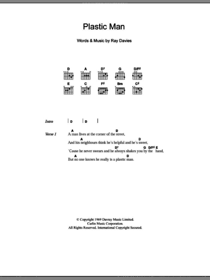 Kinks Plastic Man Sheet Music For Guitar Chords Pdf