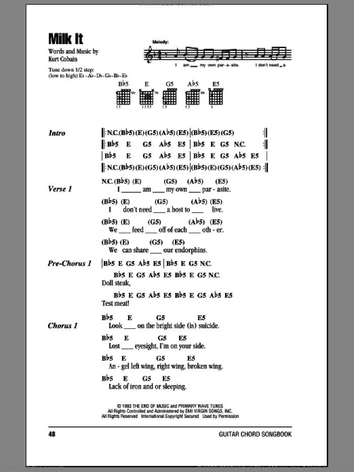 nirvana lithium sheet music pdf