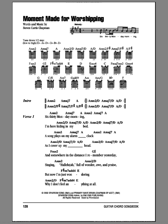 Chapman Moment Made For Worshipping Sheet Music For Guitar Chords