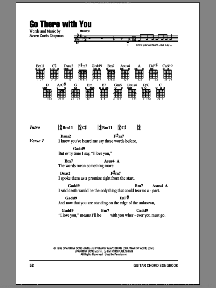 Chapman - Go There With You sheet music for guitar (chords) [PDF]