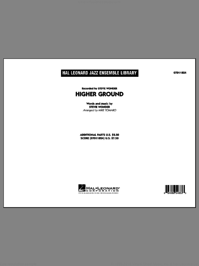 Higher Ground (COMPLETE) sheet music for jazz band by Stevie Wonder and Mike Tomaro, intermediate skill level