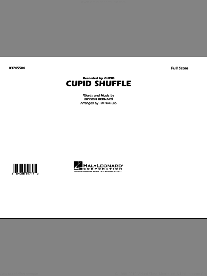 Cupid Shuffle (COMPLETE) sheet music for marching band by Tim Waters, Bryson Bernard and Cupid, intermediate skill level