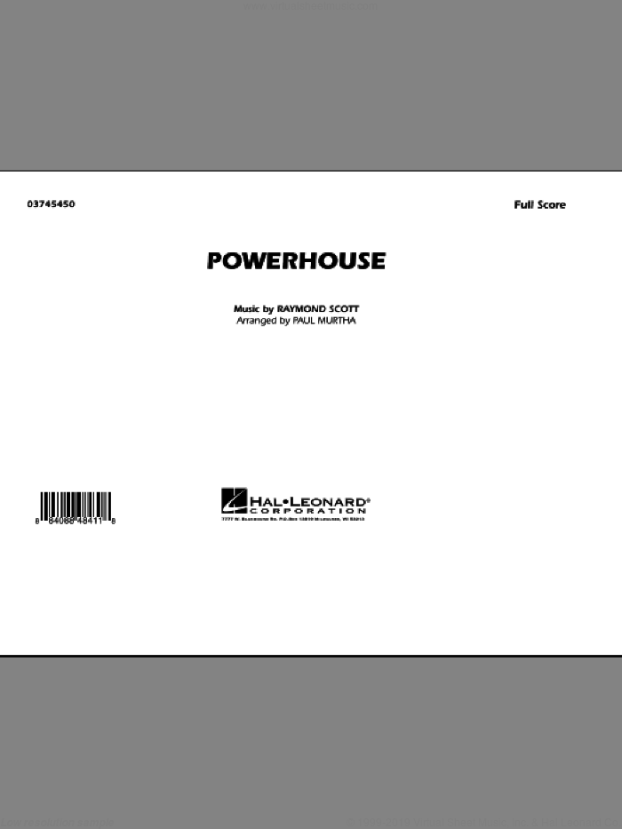 Powerhouse (COMPLETE) sheet music for marching band by Raymond Scott and Paul Murtha, intermediate skill level