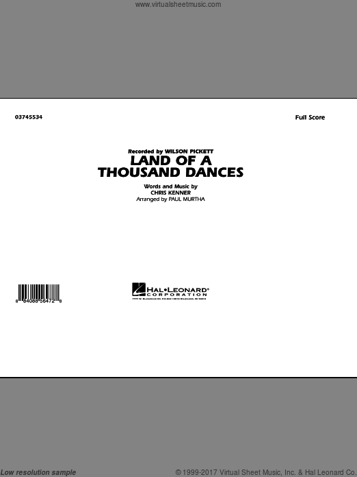 Land Of A Thousand Dances (COMPLETE) sheet music for marching band by Chris Kenner
