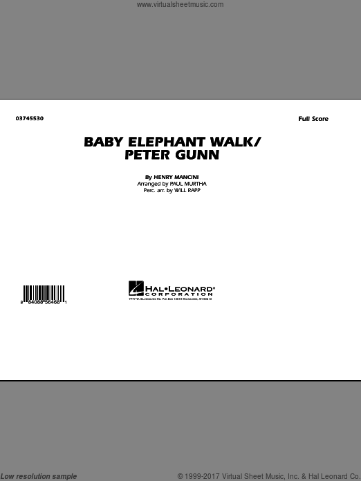 Baby Elephant Walk/Peter Gunn (COMPLETE) sheet music for marching band by Henry Mancini