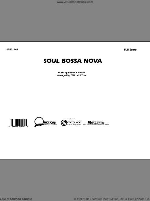 Soul Bossa Nova (COMPLETE) sheet music for marching band by Quincy Jones