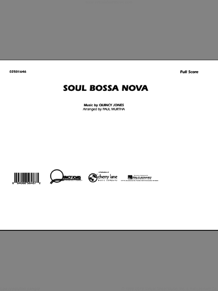 Soul Bossa Nova (COMPLETE) sheet music for marching band by Quincy Jones and Paul Murtha, intermediate. Score Image Preview.