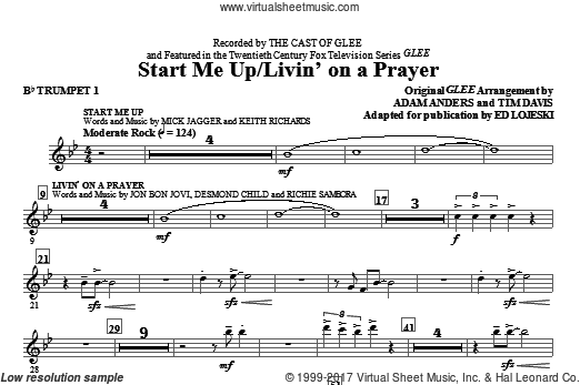 Start Me Up/Livin' On A Prayer (COMPLETE) sheet music for orchestra by Richie Sambora