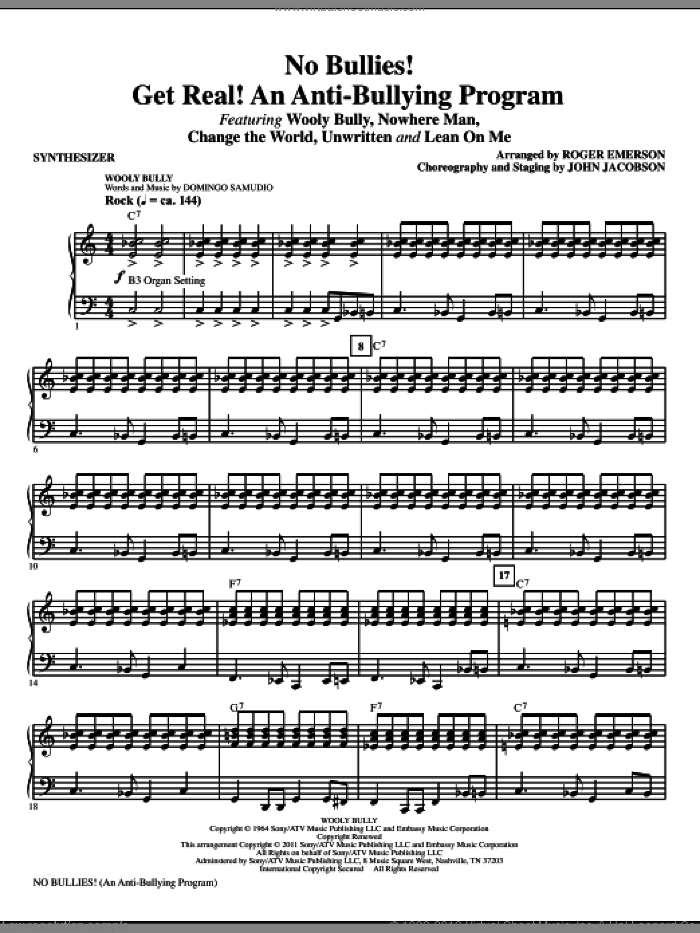 No Bullies! Get Real! (complete set of parts) sheet music for orchestra/band (Rhythm) by Roger Emerson, intermediate skill level
