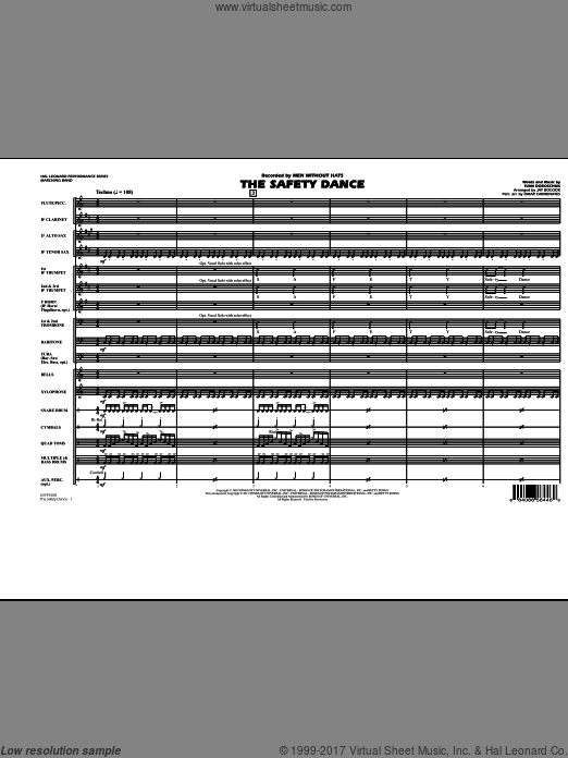 The Safety Dance (COMPLETE) sheet music for marching band by Ivan Doroschuk