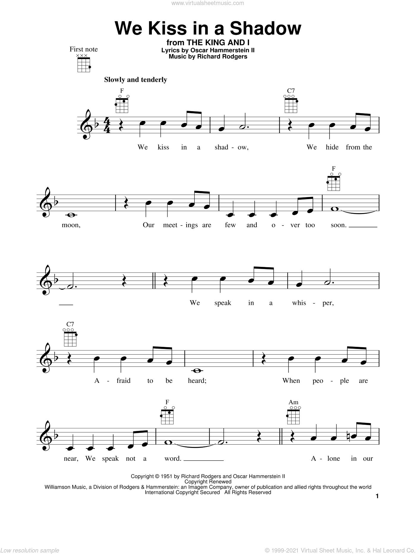 Ukulele u00bb Ukulele Tabs Kiss The Girl - Music Sheets, Tablature, Chords and Lyrics