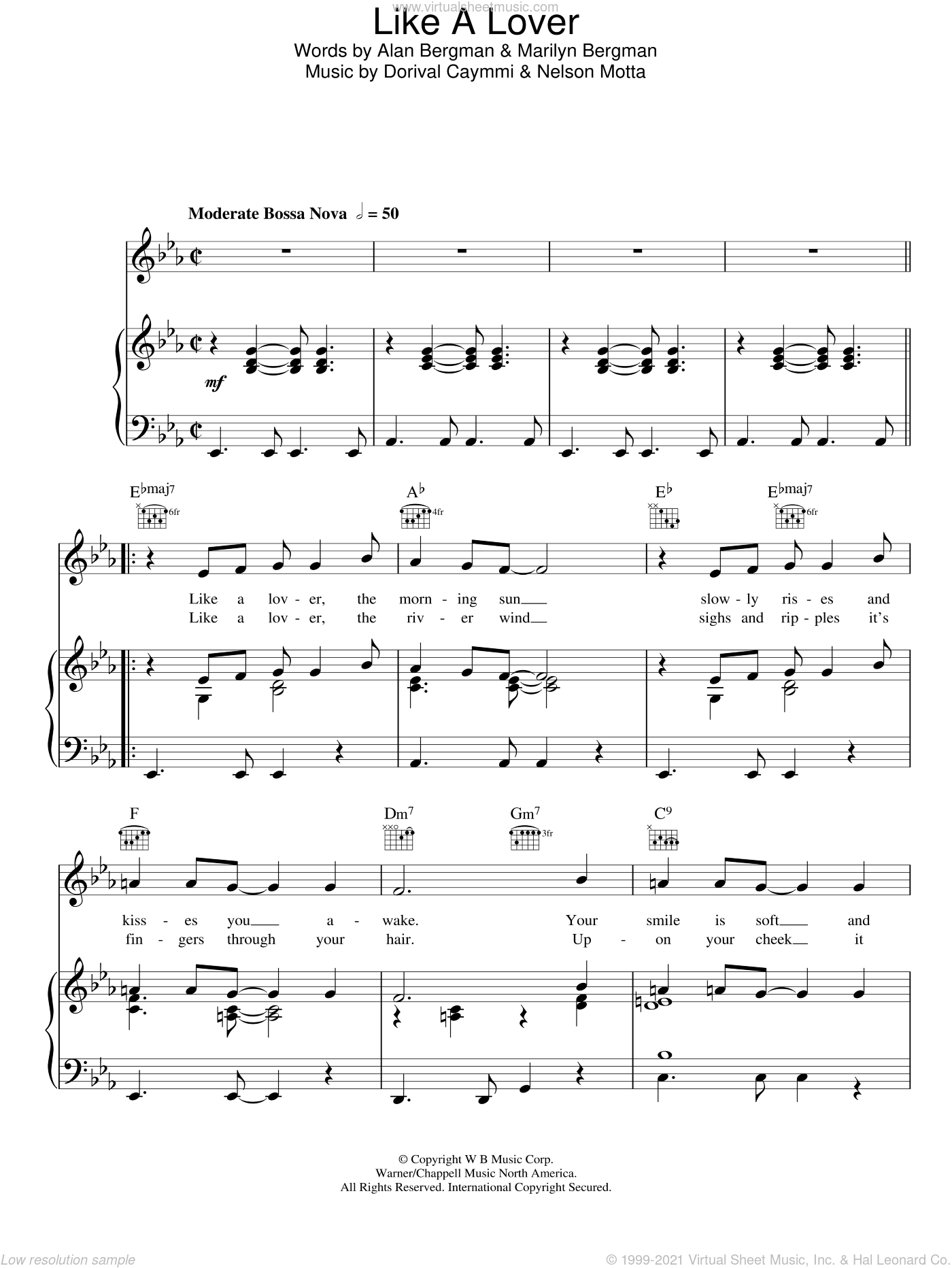 Like A Lover sheet music for voice, piano or guitar by Nelson Motta