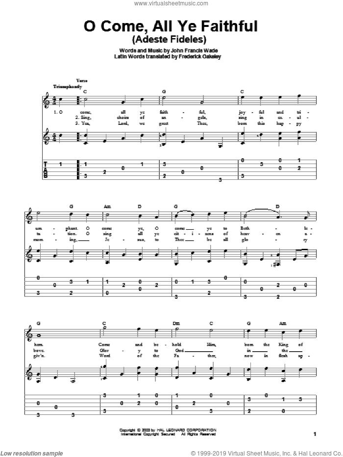 Wade - O Come, All Ye Faithful (Adeste Fideles) sheet music for ...