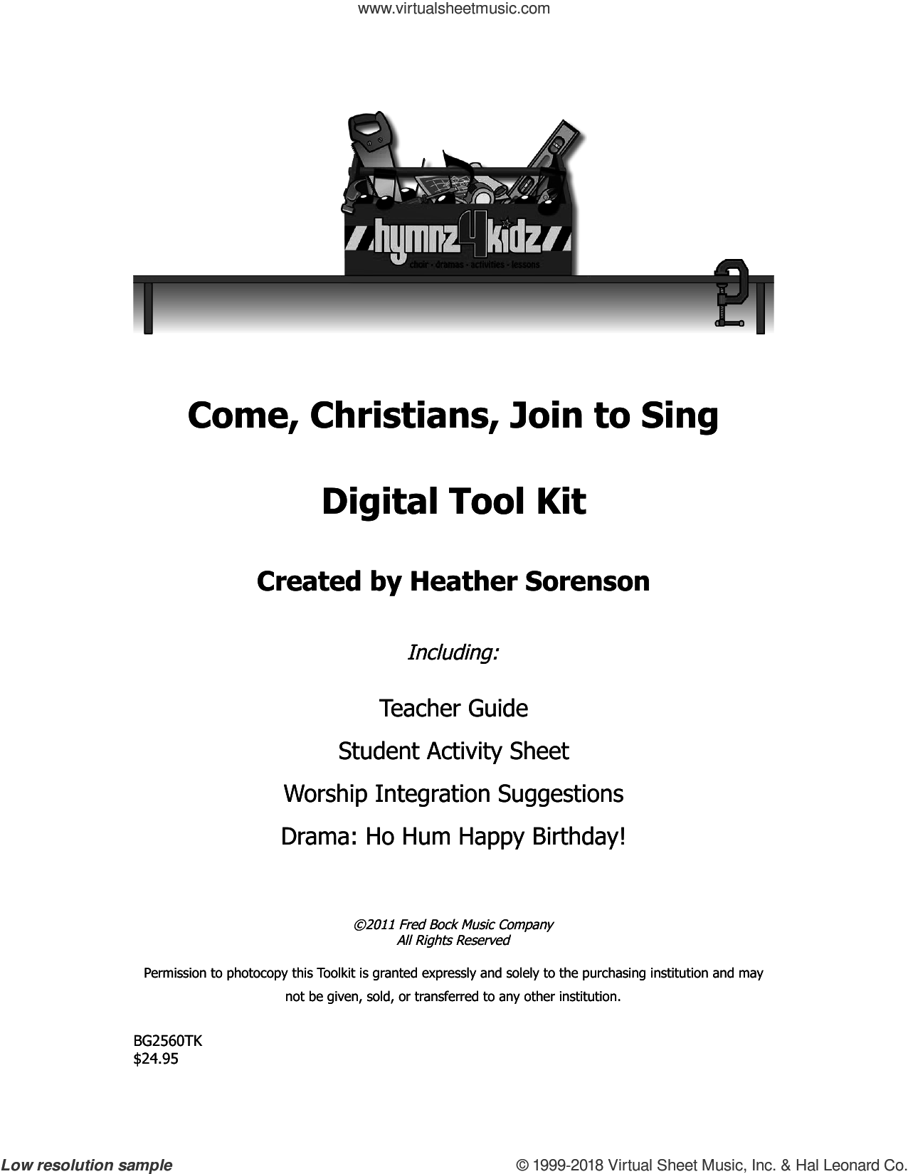Come, Christians, Join To Sing sheet music for choir (choral tool kit) by Christian Henry Bateman and Heather Sorenson, intermediate