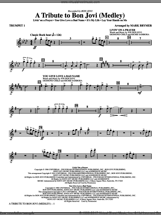A Tribute To Bon Jovi (Medley) (COMPLETE) sheet music for orchestra by Martin Sandberg